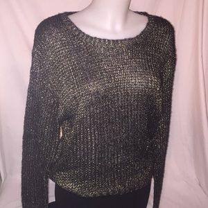 Nasty Gal tagged Wild Flower Gold Metallic Jumper